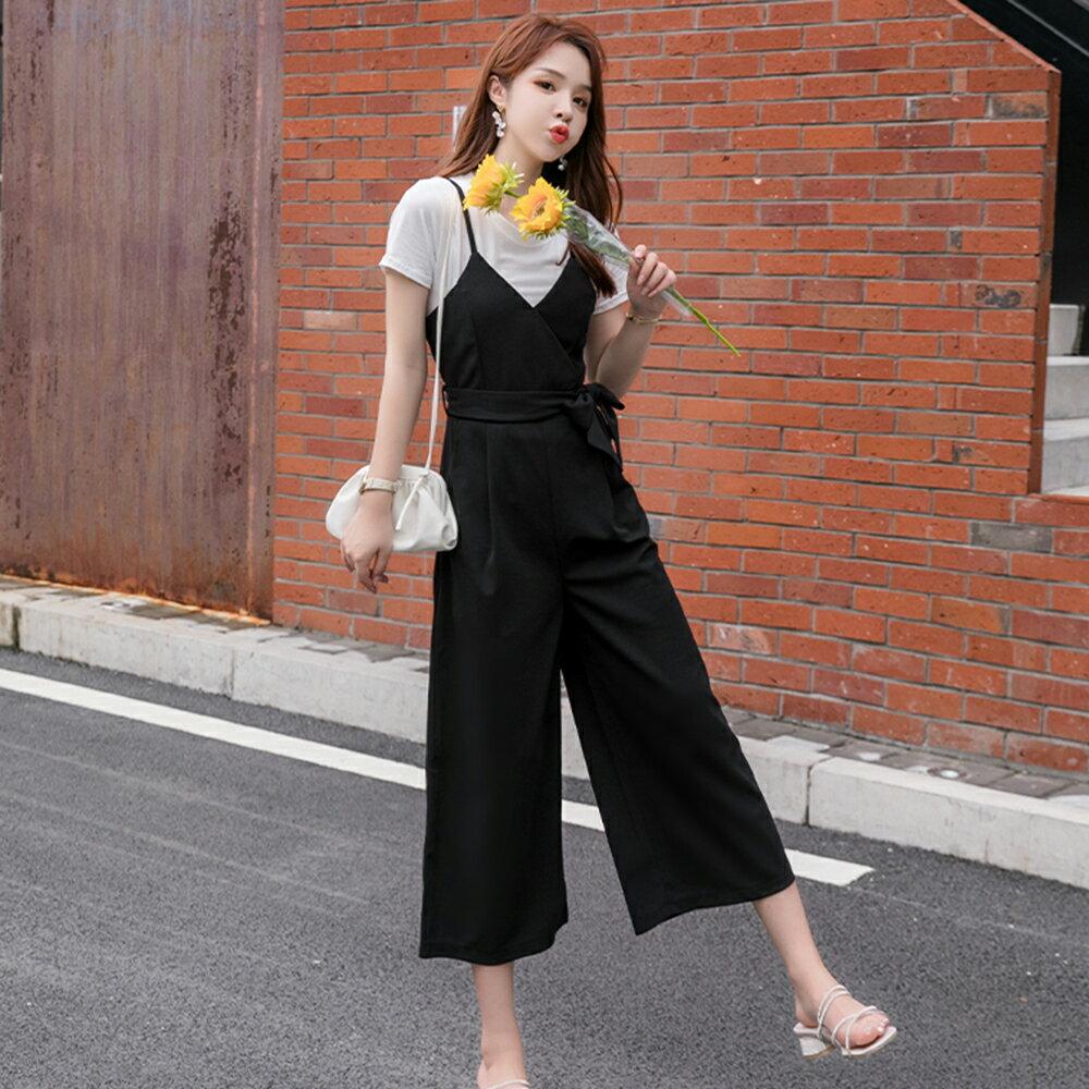時尚寬鬆休閒吊帶連身褲(黑色S~2XL)*ORead* - 限時優惠好康折扣