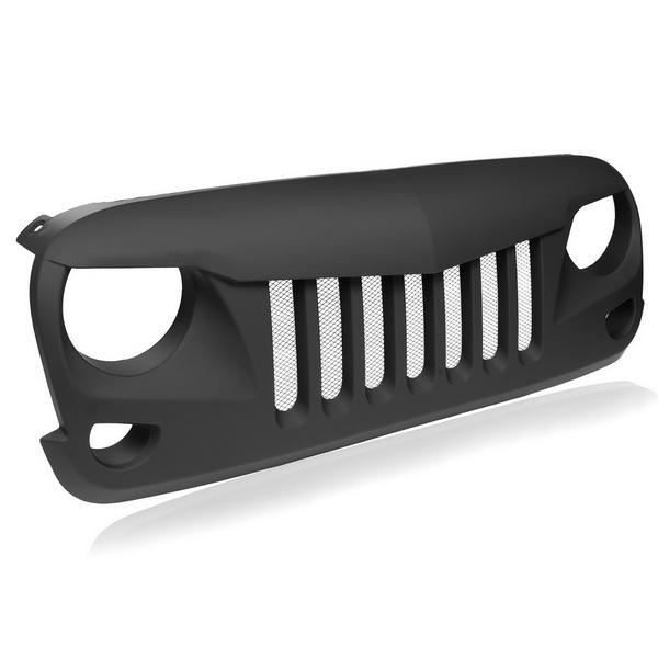 Eagle Eye Black Front Grill with Built-in Steel Mesh for 2007-2016 Jeep Wrangler 0
