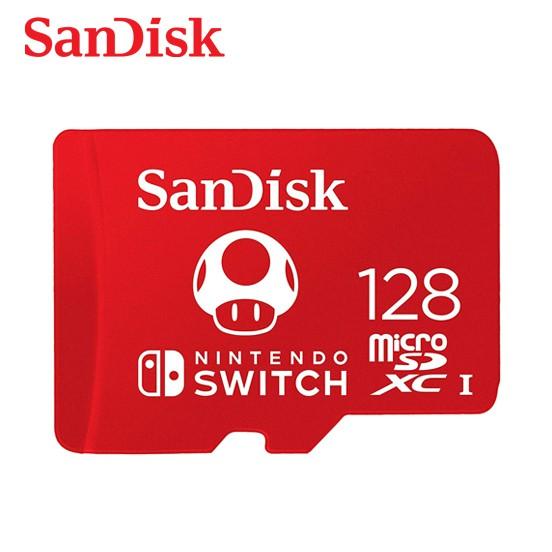 SanDisk 128G microSDXC UHS-I 任天堂Switch專用記憶卡 傳輸速率高達 100MB/s