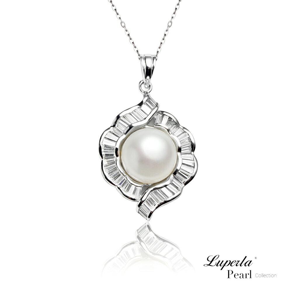 大東山珠寶  永恆典範  天然珍珠925銀項鍊 5