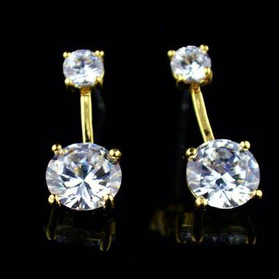 ~玫瑰金耳環鑲鑽純銀耳飾~高貴格調圓形 生日情人節 女飾品73hz110~ ~~米蘭 ~