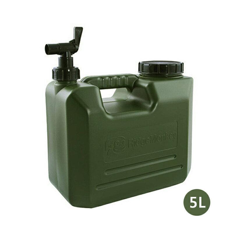【大山野營】新店桃園 英國 RidgeMonkey CAMP-5L 軍風儲水桶5L 手提桶 手提水箱 露營 釣魚 野營