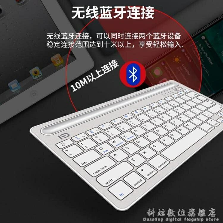 無線藍芽鍵盤蘋果手機ipad mini平板air2迷你外接鍵盤充電超薄便攜辦公  秋冬新品特惠
