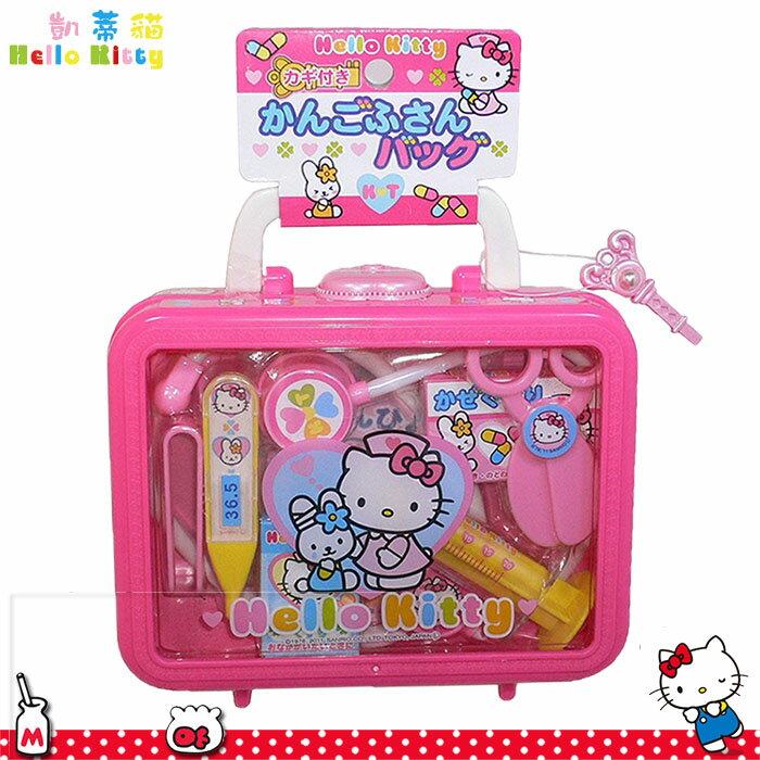 大田倉 日本進口正版Hello Kitty 凱蒂貓 手提醫生玩具 醫護遊戲組 醫生 護士 003190