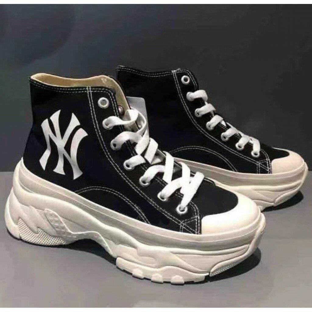 韓國 MLB 老爹鞋 高筒 厚底 帆布增高鞋#泫雅同款