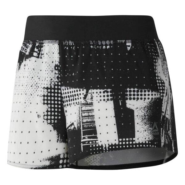 REEBOK3INWOVEN女裝短褲慢跑訓練透氣排汗黑白【運動世界】CF5858