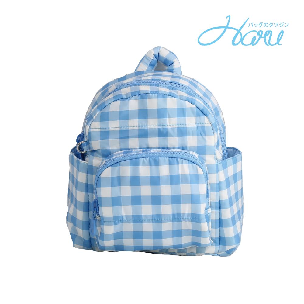 HARU 小晴天本舖媽媽包 日本布料 小童背包【方糖藍】
