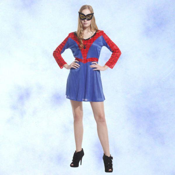 天姿舞蹈戲劇表演服飾特殊造型館:GTH-1282大人女蜘蛛俠化裝舞會表演造型派對服