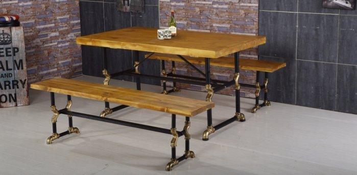 【尚品傢俱】JF-963-2 蓋爾 5 尺長方水管餐桌