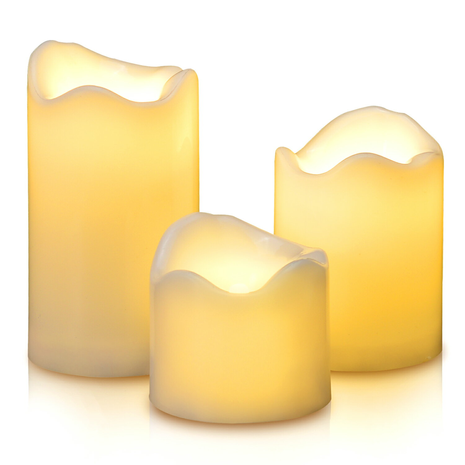 LED Candles Battery Operated Flameless Flickering smokeless 3 PCS/set Premium Votive Candles for Wedding/Party Decorations warm white 6