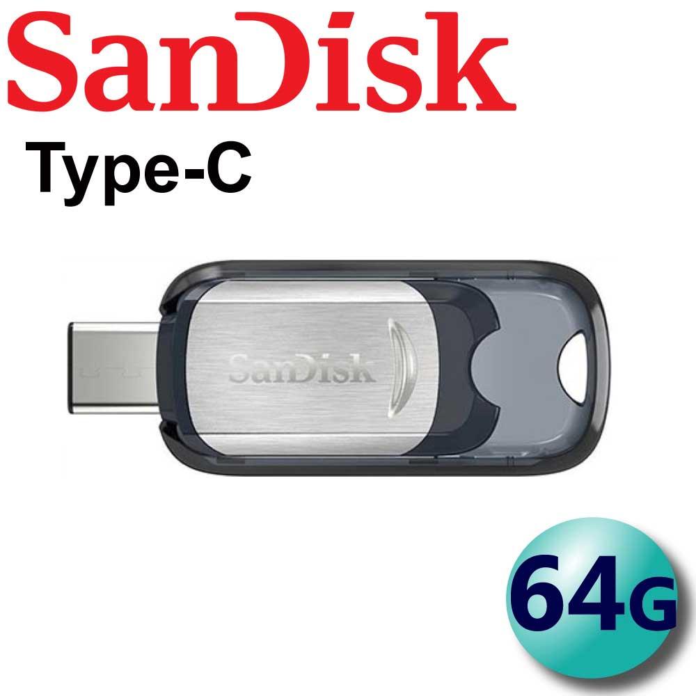 【公司貨】SanDisk 64GB 64G 150MB/s Ultra CZ450 USB Type-C 隨身碟