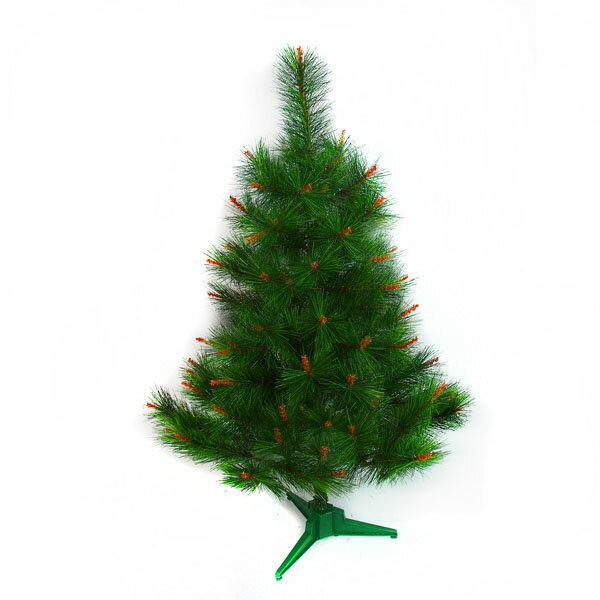 台灣製3呎/3尺(90cm)特級綠松針葉聖誕樹裸樹(不含飾品不含燈)YS-NPT03001