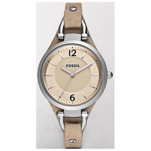 Fossil Women's ES2830 Beige Leather Analog Quartz Watch with Beige Dial 0
