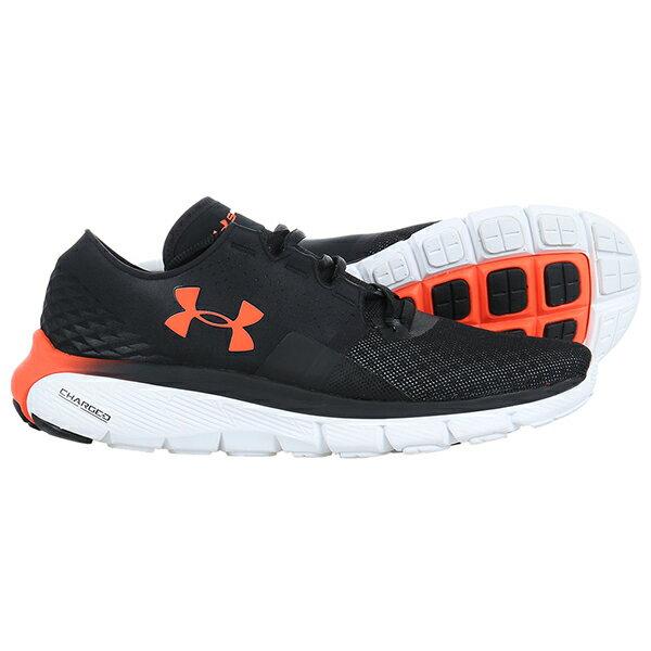 《出清59折》Shoestw【1285677-002】UNDER ARMOUR UA 慢跑鞋 Speedform Fortis 2.1 網眼布 黑橘 男生尺寸 2