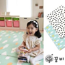 【淘氣寶寶】韓國 DreamB 雙面兒童遊戲地墊-雲朵/點點 200 x 140 x 1.4(cm)
