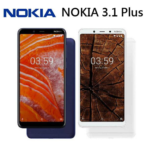 [滿3000得10%點數]NOKIA 3.1 Plus 6吋 3G/32G-藍/白