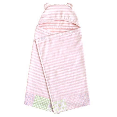 Hoppetta - Souleiado - 芙蓉花漾熊耳朵浴巾 (粉紅)