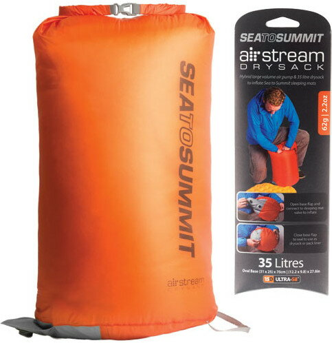Sea to Summit 睡墊充氣備品-防水袋式 橘 Air Stream Dry Sack Pump STSAMASD
