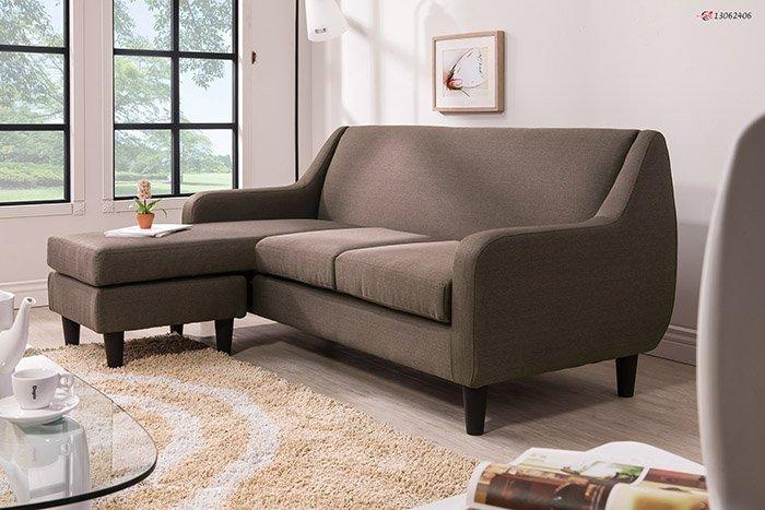【尚品傢俱】HY-A234-02 詹姆士歐風L型咖啡布沙發