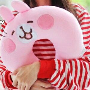 美麗大街【106011918】卡娜赫拉兔子小雞可愛卡通動物造型U型枕睡眠靠枕