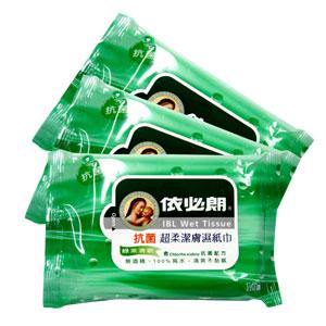 依必朗 抗菌 超柔潔膚濕紙巾-綠茶清香 10抽 (3入) / 包【康鄰超市】 0