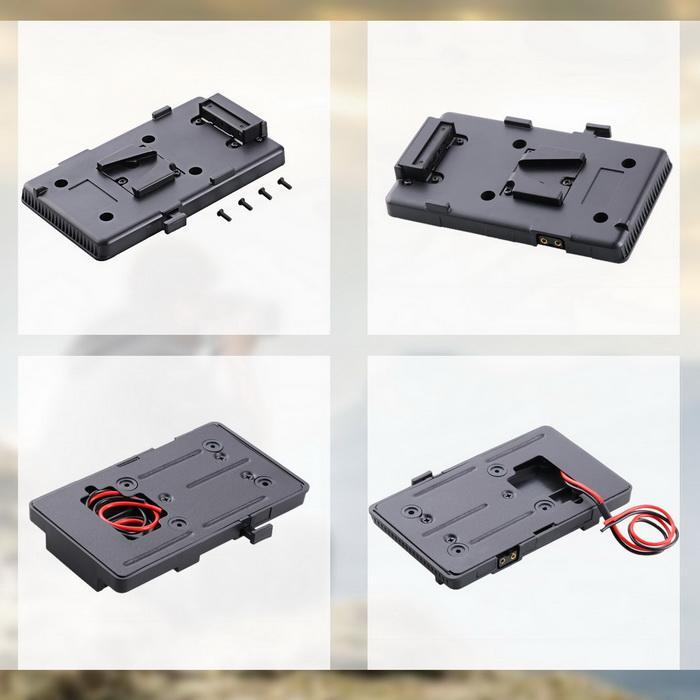 Battery Back Plate Adapter for DSLR Camera Sony V-Mount External Video Light 2