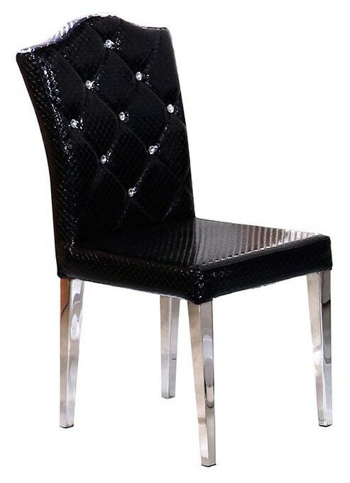 【 尚品傢俱】JF-481-10 雅典娜黑鱷紋餐椅