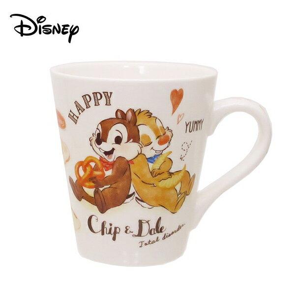 麵包款【日本正版】奇奇蒂蒂 陶瓷 馬克杯 240ml 咖啡杯 迪士尼 Disney - 499293