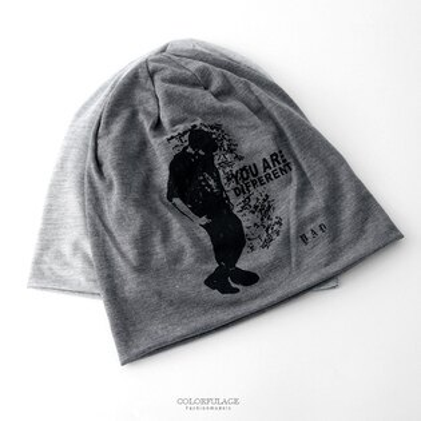 毛帽人像圖案棉質薄款帽【NH283】街頭個性