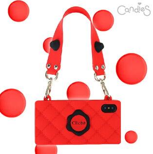 【Candies】HappyStrapCliche晚宴包(紅)-IPhoneX