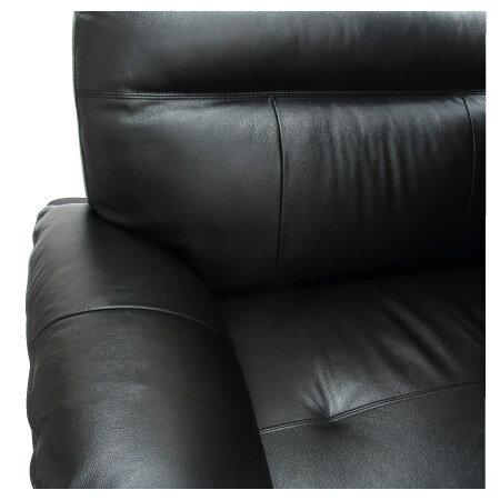 ◎(OUTLET)半皮3人用沙發 STONE BK 福利品 NITORI宜得利家居 6