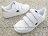《7折回饋》Shoestw【811220106】CHAMPION 休閒鞋 魔鬼氈 黏帶 皮革 白粉紅 女生尺寸 1