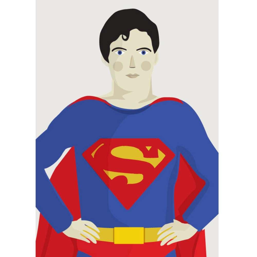 『摩達客』西班牙知名插畫家Judy Kaufmann藝術創作海報掛畫裝飾畫-超人