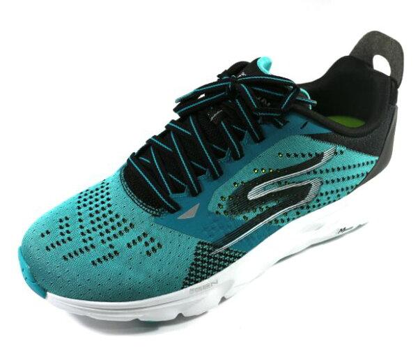 陽光運動館:[陽光樂活]SKECHERS(男)跑步系列GORUNRIDE6避震緩衝鞋款-54117TLBK湖水藍