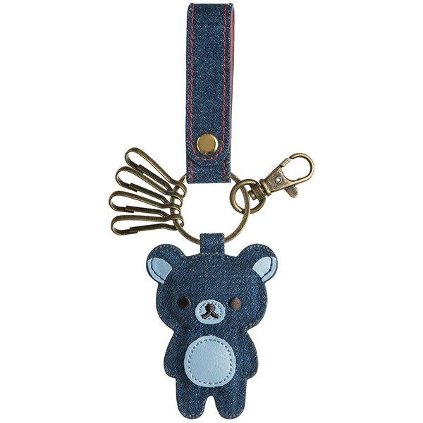 X射線 精緻禮品:X射線【C686419】懶熊條紋牛仔鑰匙圈,包包掛飾鑰匙圈吊飾