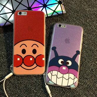 iPhone 6 I6S PLUS I5 5S 麵包超人 細菌人 大眼蛙 加菲貓 全包覆 手機殼 可吊掛繩