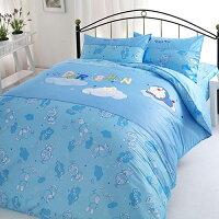 小叮噹週邊商品推薦哆啦A夢 星光閃閃 雙人兩用被床包4件組 150x186 公分