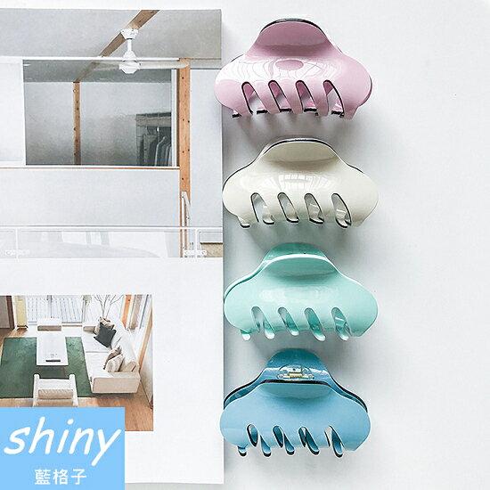 shiny藍格子:全店滿600折50【DJB4109】shiny藍格子-簡約糖果色亞克力髮夾