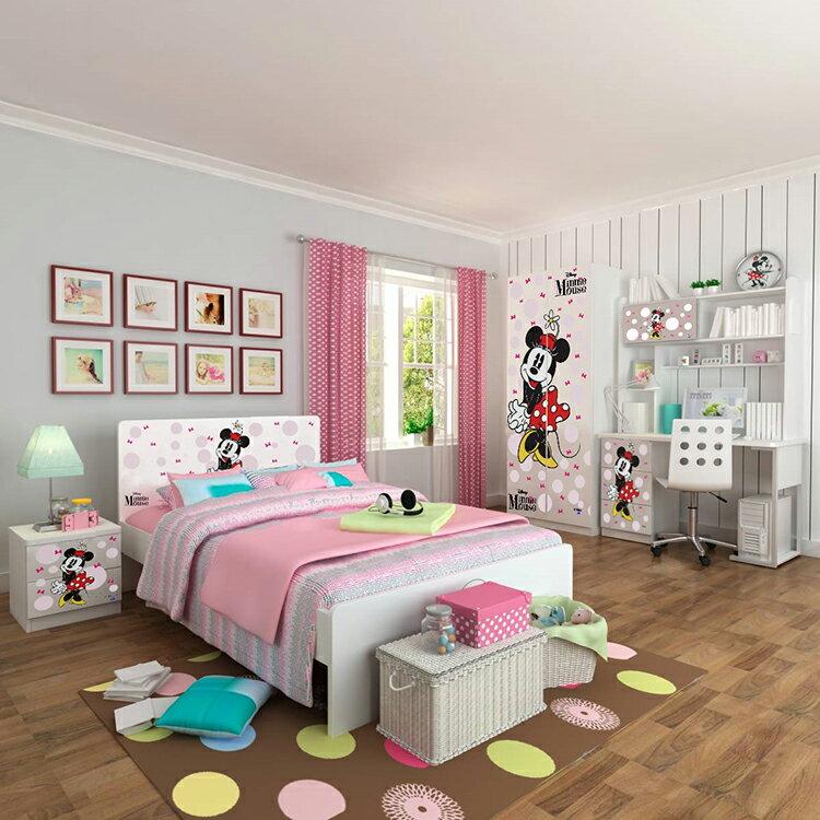 [首雅傢俬]MIT 迪士尼系列-米妮 5尺 雙人床架 兒童床架