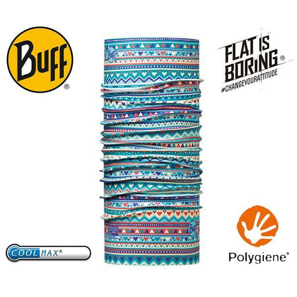 《台南悠活運動家》BUFFCOOLMAX頭巾兒童藍點星星BF115084-789-10-00