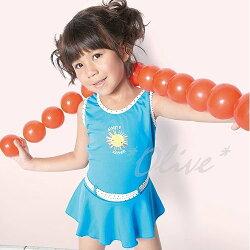 ☆小薇的店☆台灣製沙麗品牌休閒風格女童連身裙泳裝特價490元 NO.5804(L-XL)