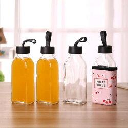 [Hare.D] 玻璃水瓶350ml附布套 附防熱布套 隨身玻璃杯 提手 水杯 玻璃瓶水壺