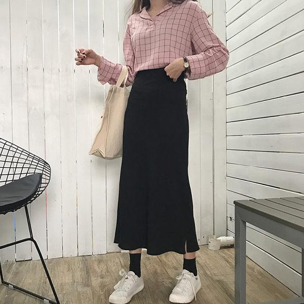 PSMall百搭修身雪紡半身裙裙子【T019】