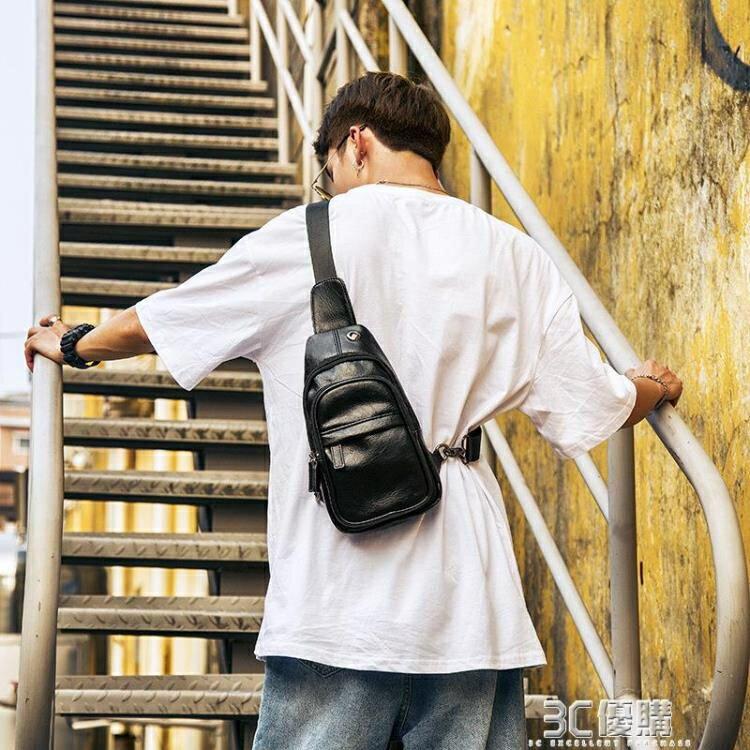 男士胸包潮男款韓版斜挎包 戶外運動休閒百搭男生單肩包后背跨包