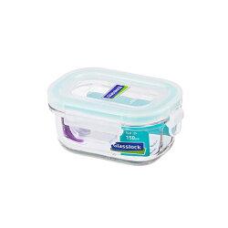 Glass Lock 強化玻璃保鮮盒韓國製長型150ml-RP520嬰兒副食品分裝盒-大廚師百貨