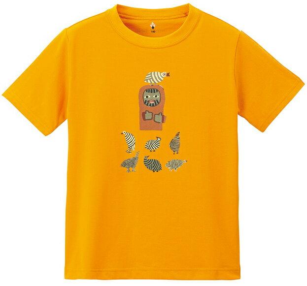 ├登山樂┤Mont-Bell WIC.T 男兒童短排T-橘 # 1114267MRGD