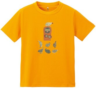 Mont-Bell 兒童排汗短T 幼童排汗衣 Wickron 1114267 MRGD 鳥與山男 橘