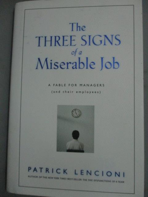 ~書寶 書T7/原文書_JFA~The Three Signs of a Miserabl