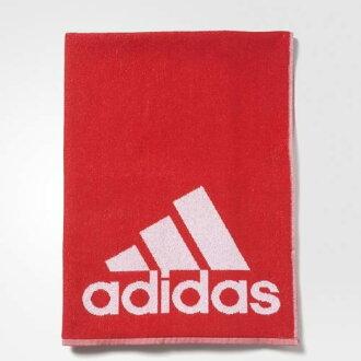 Adidas Towel L 毛巾 棉質 運動 浴巾 雙面 紅 白 140CM 【運動世界】AY2797├【1101-1130】單筆訂單滿700折100★結帳輸入序號『loveyou-beauty』┤