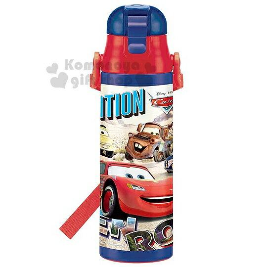 〔小禮堂〕迪士尼 CARS閃電麥坤 直飲式不銹鋼保冷瓶《藍紅.朋友.沙漠.580ml》安全扣壓彈跳蓋